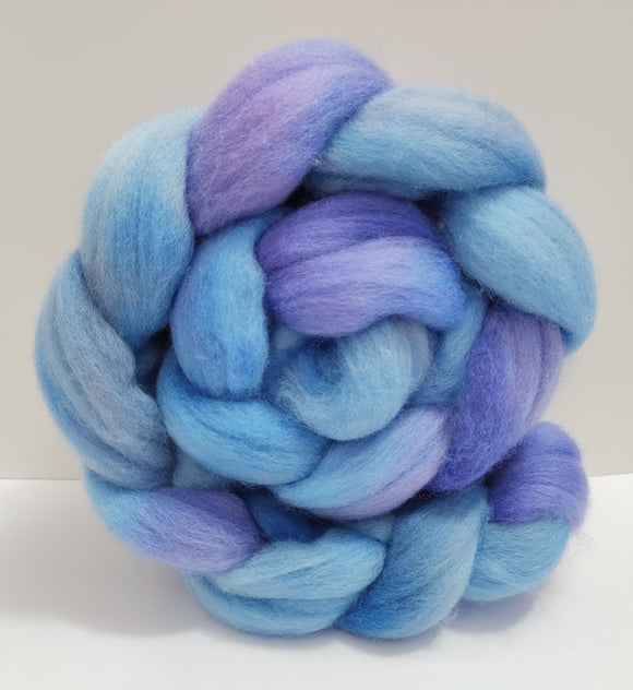 Frozen Fjord hand dyed combed top for spinning/felting (choice of fibre)