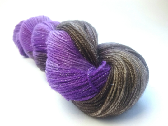 Cadbury sparkle merino nylon fingering/4ply/sock yarn