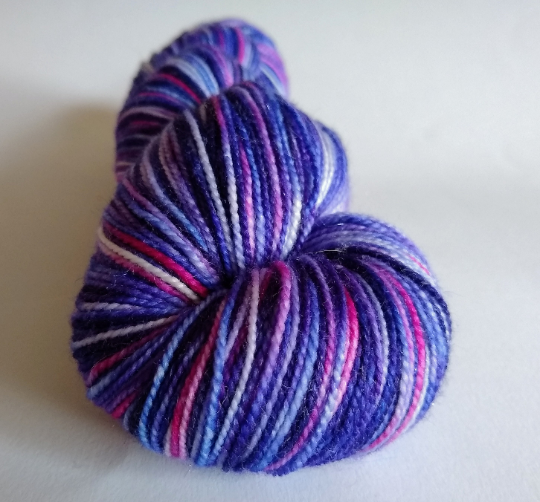 Twilight Skies sparkle merino nylon fingering/4ply/sock yarn