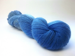 Smoky Sapphire sparkle merino nylon fingering/4ply/sock yarn