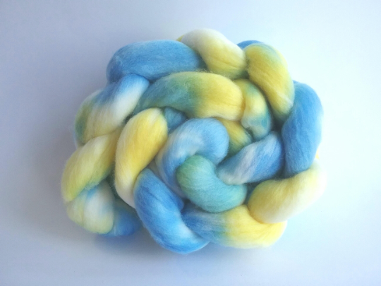 Starry Flag Merino combed tops for spinning or felting