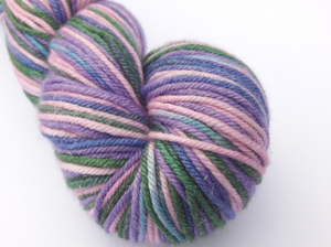 Fairy Garden hand dyed merino/silk/stellina DK weight yarn