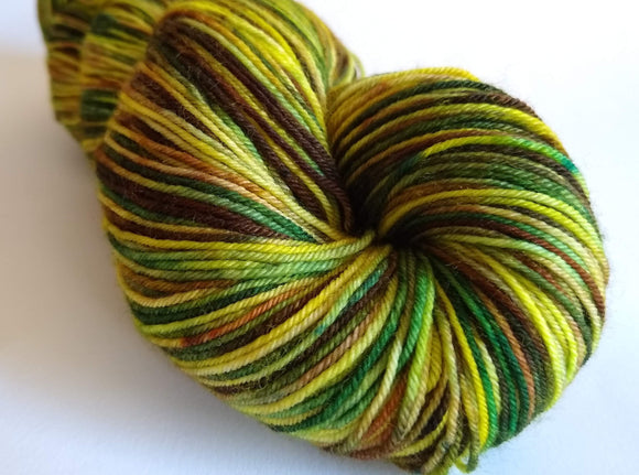 Lichen hand dyed merino nylon fingering/4ply/sock yarn