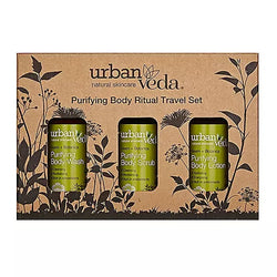 URBAN VEDA Purifying Body Ritual Gift Set 3 Pieces (1x 200ml Body wash 1x 200ml Body scrub 1x 250ml Body lotion)