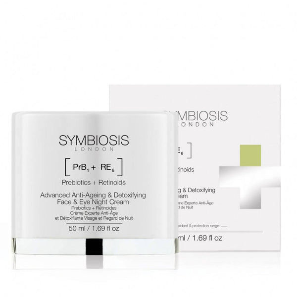 SYMBIOSIS - [Prebiotics + Retinoids] - Advanced Anti-ageing & Detoxifying Face & Eye Night Cream
