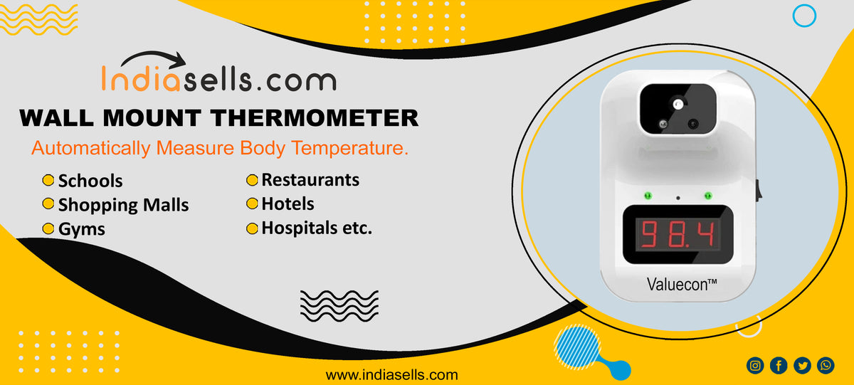 indiasells.com wall mounted thermometer banner
