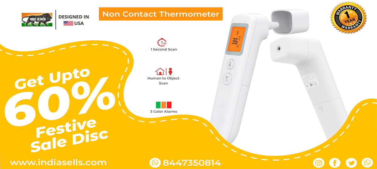 indiasells.com non contact infrared thermometer get upto 60% of offer sale discount