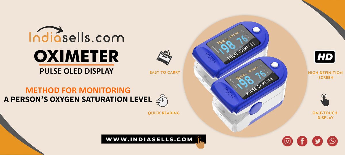 Indiasells.com Pulse oximeter Oled display banner