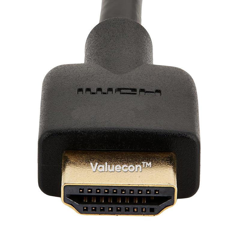 Valuecon®️ High-Speed HDMI Cable, 3D, 4K video, Black