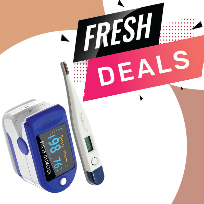 Valuecon Best Price Deal Combo Offer on Digital Thermometer With Pulse Oximeter