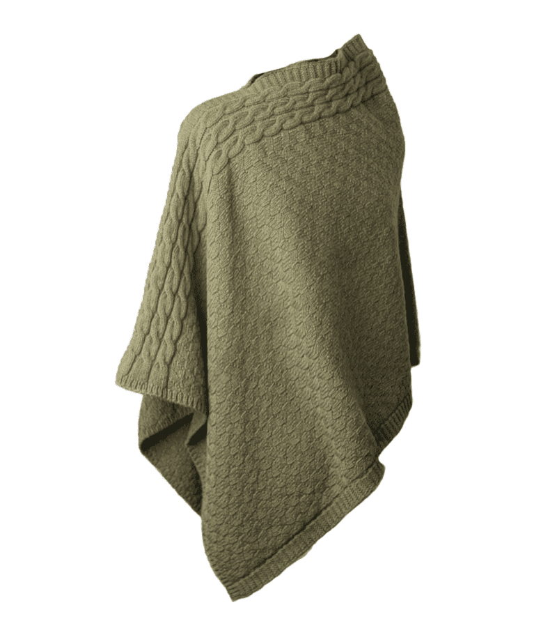 Cable Accent Alpaca Blend Poncho