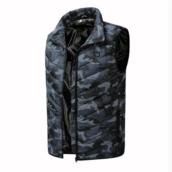 CAMOUFLAGE HEATED VEST -2 HEATED AREAS