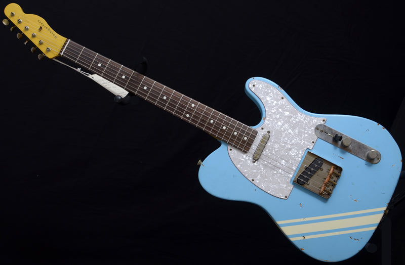 Nash T-63 Daphne Blue With Competition Stripe-Brian's Guitars