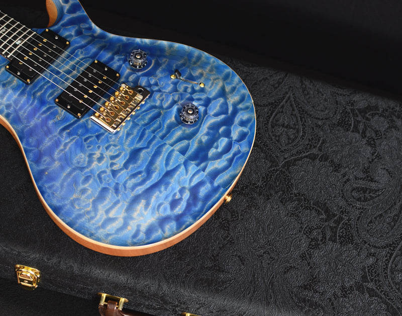 Paul Reed Smith Wood Library Custom 24 Satin Faded Blue Jean-Brian's Guitars