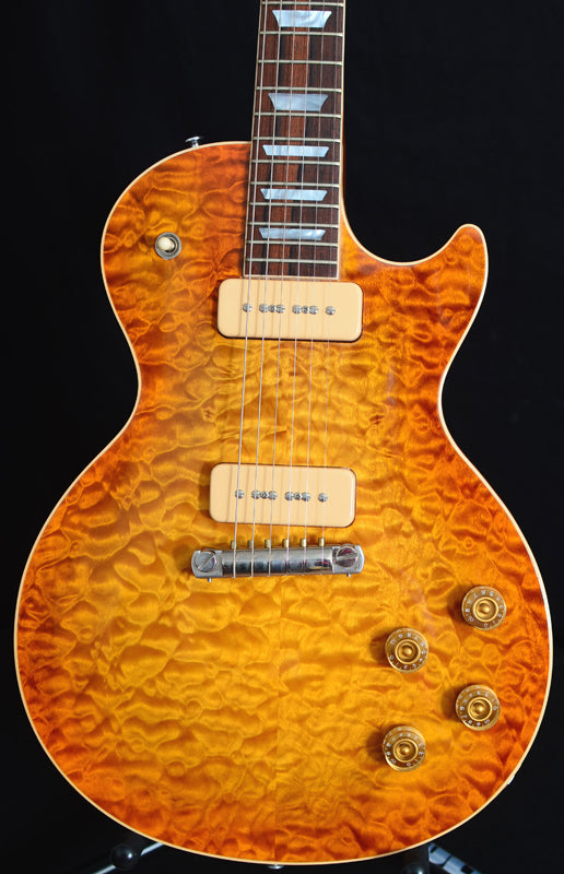 2001 Gibson Custom Shop Les Paul Standard Quilt Amberburst-Brian's Guitars