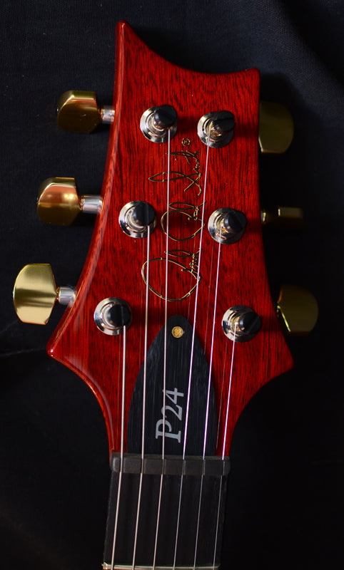 Paul Reed Smith Wood Library P24 Trem Brian's Limited Charcoal Cherry