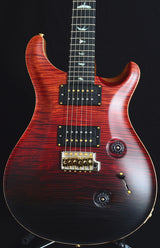 Paul Reed Smith Wood Library Custom 24 Satin Fire Red Black Fade-Brian's Guitars
