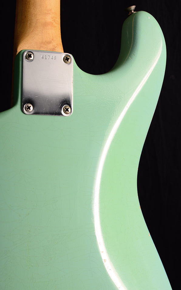 1960 Fender Stratocaster Hardtail Daphne Blue Relic Refinish-Electric Guitars-Brian's Guitars
