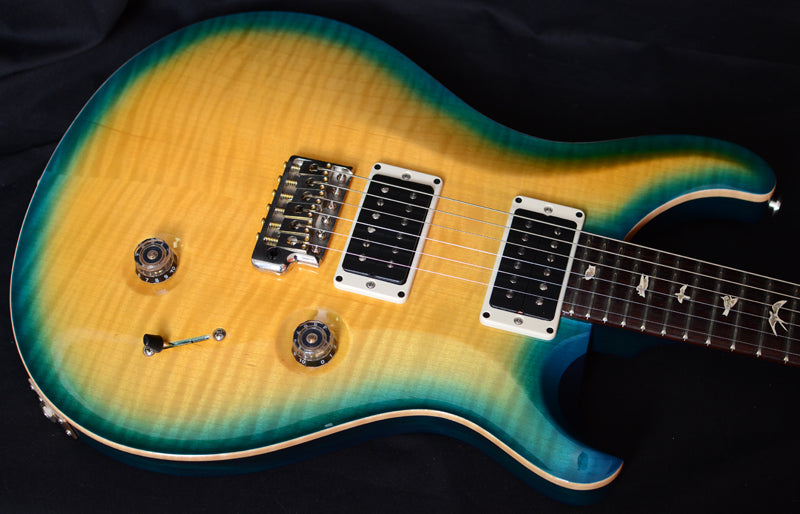 Paul Reed Smith Custom 24 Pale Yellow Blue Burst-Brian's Guitars