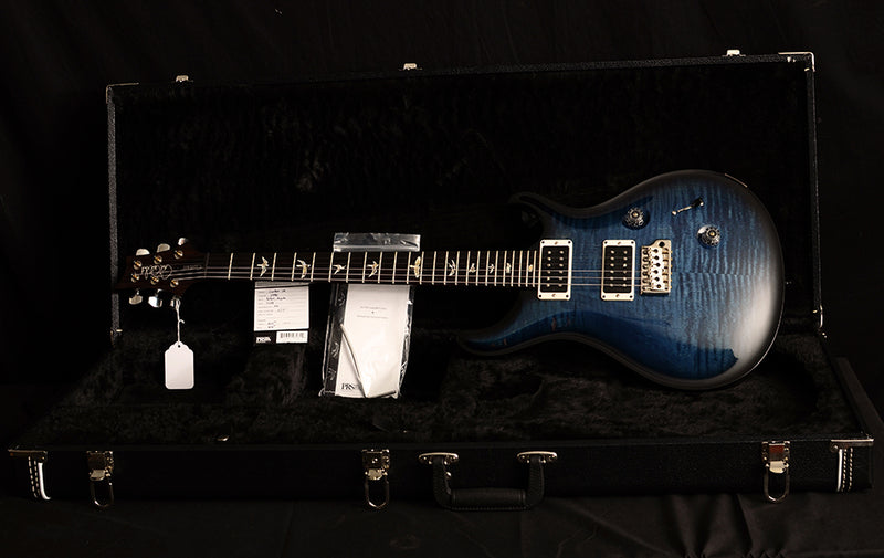 Used Paul Reed Smith Custom 24 Whale Blue Smokeburst-Electric Guitars-Brian's Guitars