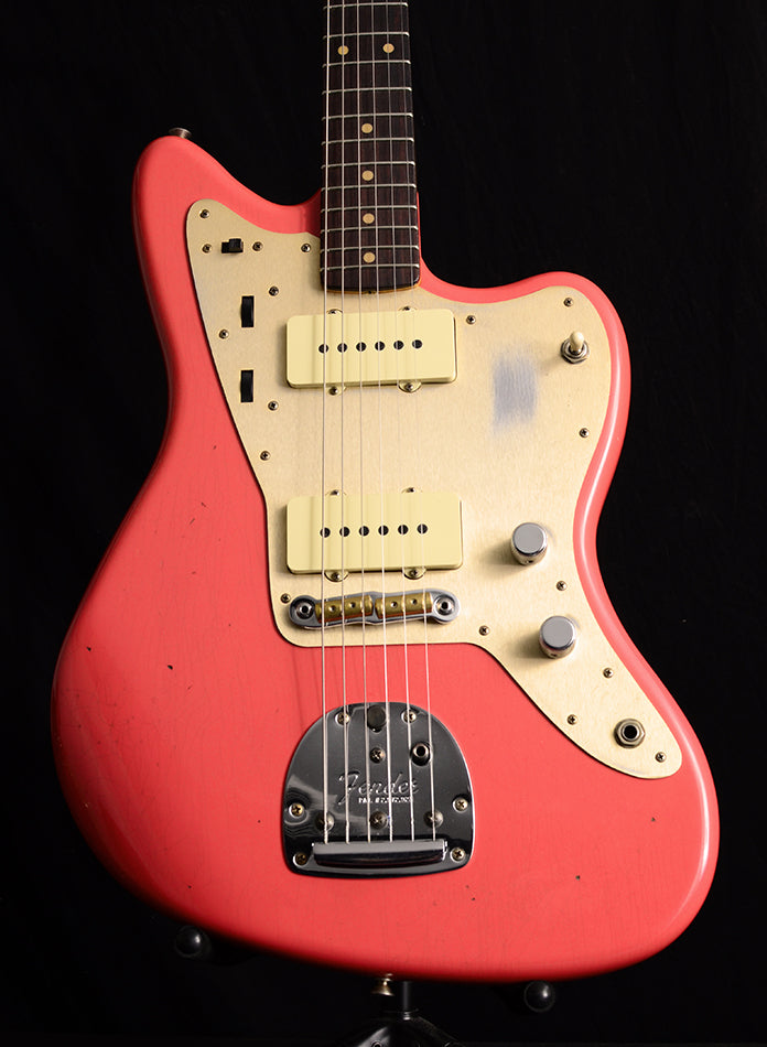 Used Fender Custom Shop '59 Jazzmaster Super Faded Fiesta Red-Electric Guitars-Brian's Guitars