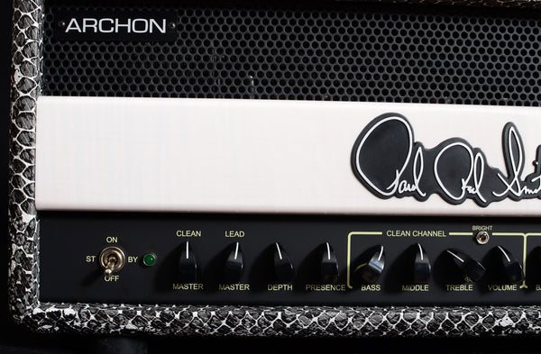 Paul Reed Smith White Snakeskin Archon 100W Brian's Guitars Limited Head