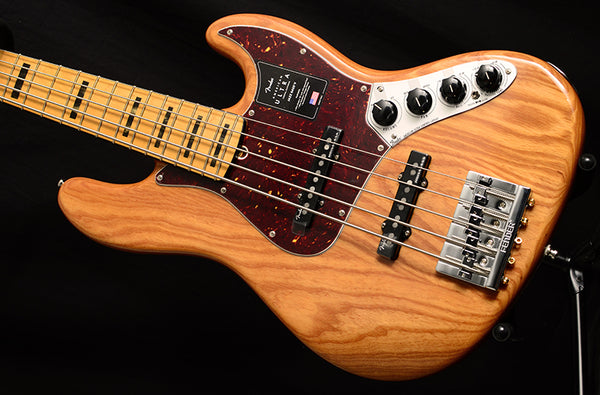 Fender American Ultra Jazz Bass V 5 String Natural-Brian's Guitars