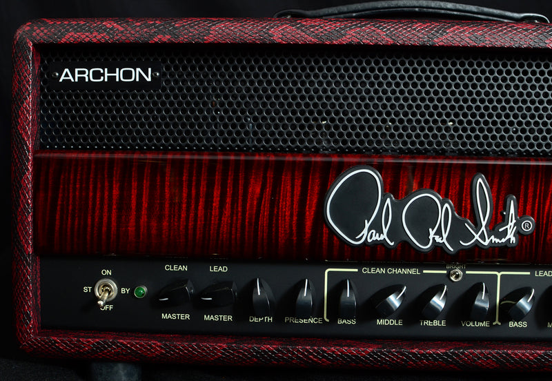 Paul Reed Smith Red Snakeskin Archon 100W Brian's Guitars Limited Head-Brian's Guitars