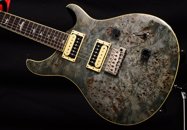 Paul Reed Smith SE Custom 24 Poplar Burl Whale Blue-Electric Guitars-Brian's Guitars