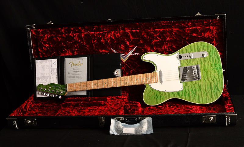 Used Fender Custom Shop Lime Green Telecaster Masterbuilt By Yuriy Shishkov