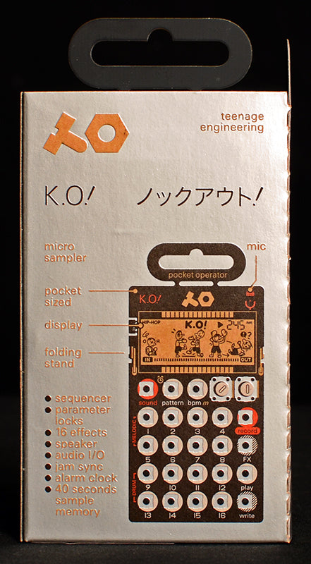Teenage Engineering Pocket Operators PO-33 K.O!-Effects Pedals-Brian's Guitars