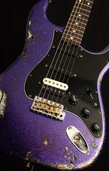 Used Fender Custom Shop 1959 Stratocaster HSS Heavy Relic Purple Sparkle Over Black Paisley-Electric Guitars-Brian's Guitars