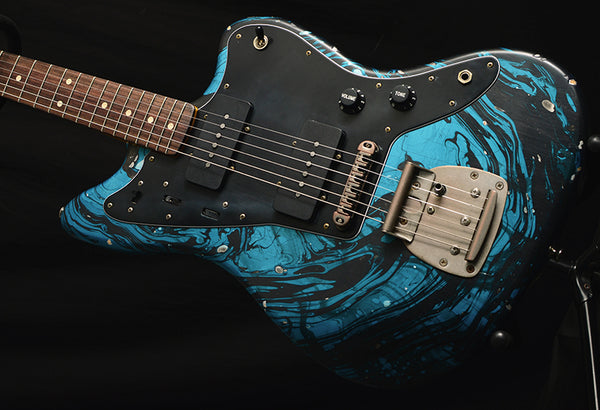 Nash JM-63 Blue Swirl-Electric Guitars-Brian's Guitars