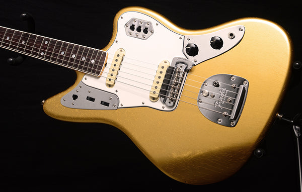 Fender Custom Shop 1964 Jaguar Lush Closet Classic Aged Aztec Gold-Electric Guitars-Brian's Guitars