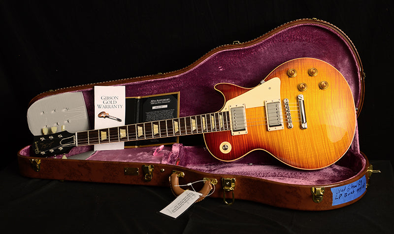Used Gibson Custom 60th Anniversary 1959 Reissue Les Paul Standard Iced Tea Fade-Electric Guitars-Brian's Guitars