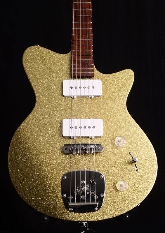 Used Koll Troubadour Gold Sparkle-Electric Guitars-Brian's Guitars