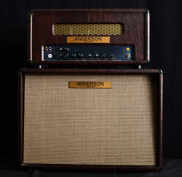 Used Anderson Amplifiers 45RT Head And 2x12 Cabinet