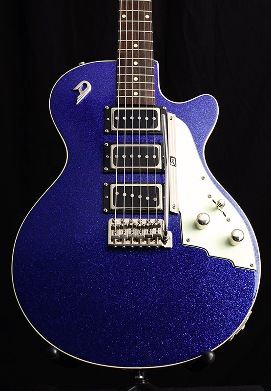 Used Duesenberg V-Caster Blue Sparkle-Electric Guitars-Brian's Guitars