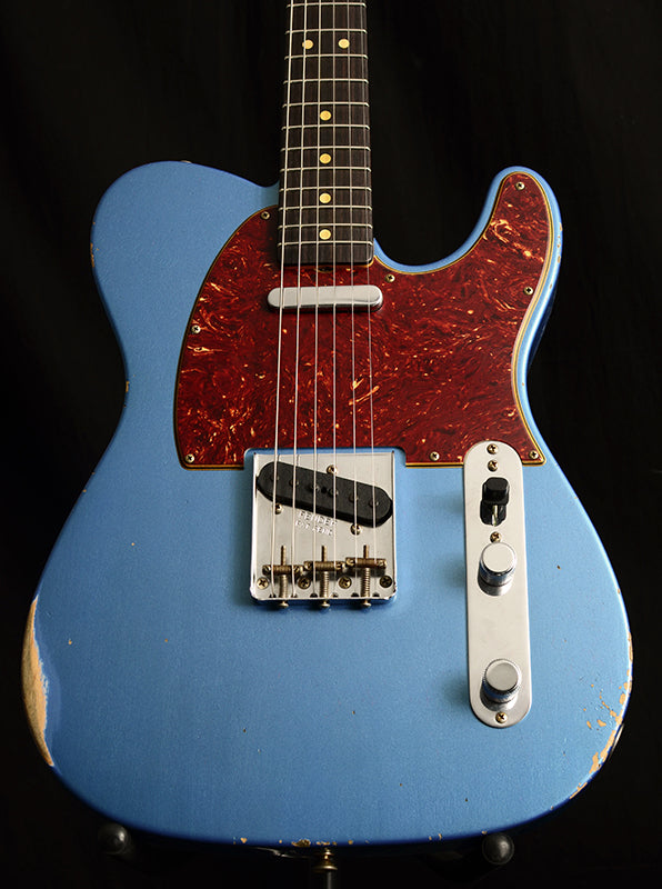 Fender Custom Shop '63 Telecaster Relic Limited Lake Placid Blue-Electric Guitars-Brian's Guitars
