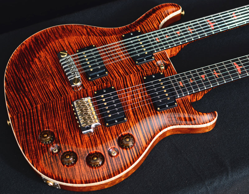 "Paul Reed Smith Private Stock Doubleneck ""Magma""-Electric Guitars-Brian's Guitars"