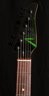 Tom Anderson Raven Classic Black With Green Dog Hair-Electric Guitars-Brian's Guitars