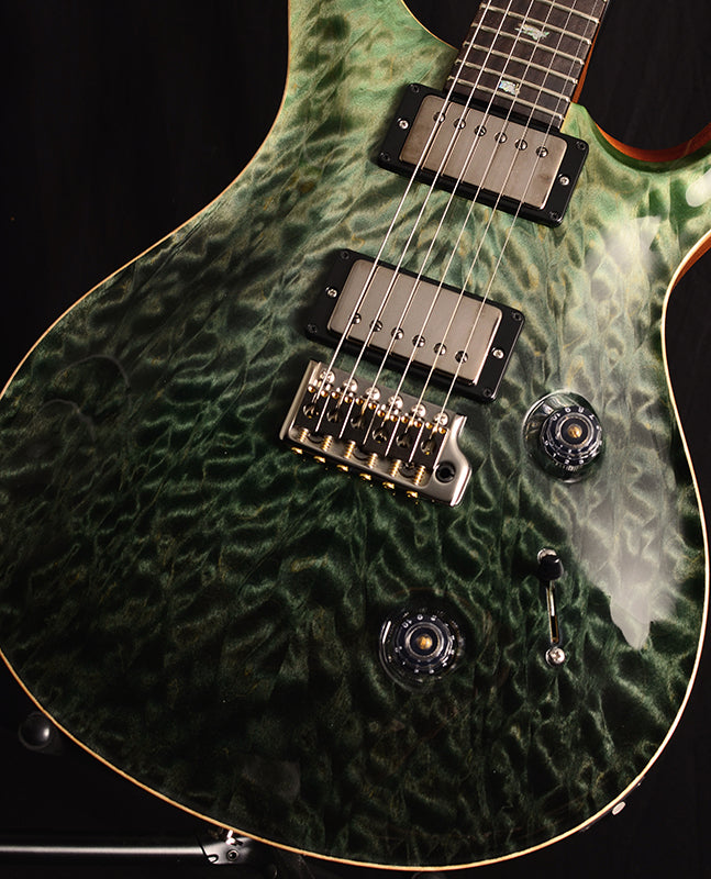 Paul Reed Smith Wood Library Custom 24 Fatback Brian's Limited Trampas Green Fade-Electric Guitars-Brian's Guitars
