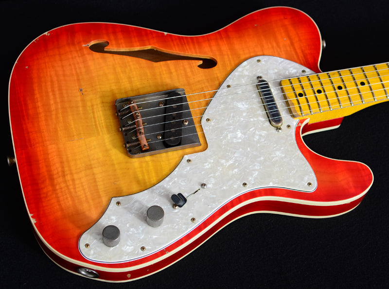 Nash T-69TL Flame Top Cherry Sunburst-Brian's Guitars
