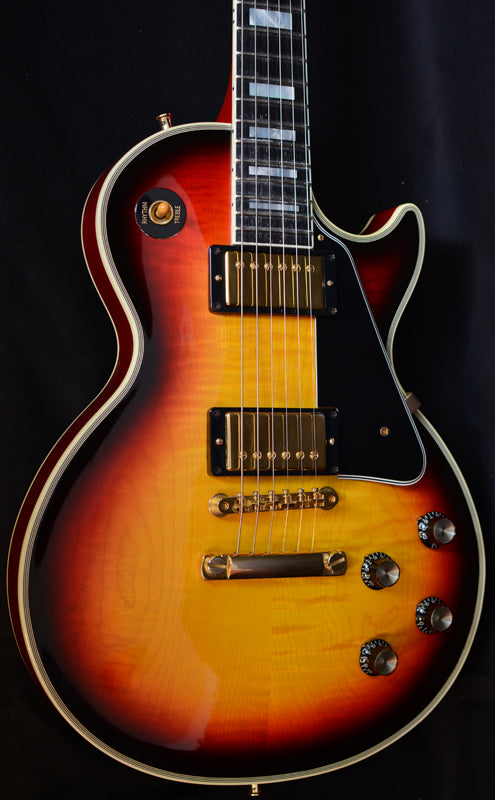 Used Gibson Custom 1968 Reissue Les Paul Custom Flame Top-Brian's Guitars