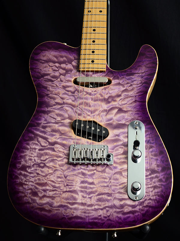 Used Tom Anderson Top T Shorty Hollow Natural Purple Burst-Brian's Guitars