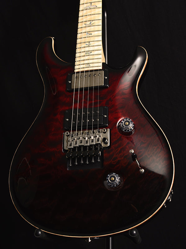 Paul Reed Smith Wood Library Custom 24 Floyd Brian's Limited Fire Red Black Fade Smokeburst-Brian's Guitars