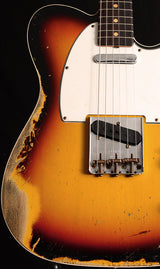 Fender Custom Shop 1964 Telecaster Custom Heavy Relic Faded 3 Tone Sunburst-Electric Guitars-Brian's Guitars