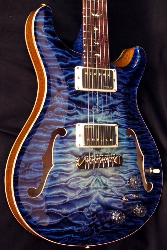 Paul Reed Smith Private Stock Hollowbody II Aqua Violet Glow #1-Brian's Guitars