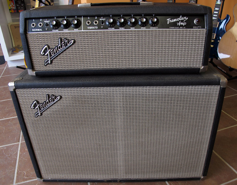 Used 1964 Fender Tremolux Amplifier Head and Cabinet-Brian's Guitars