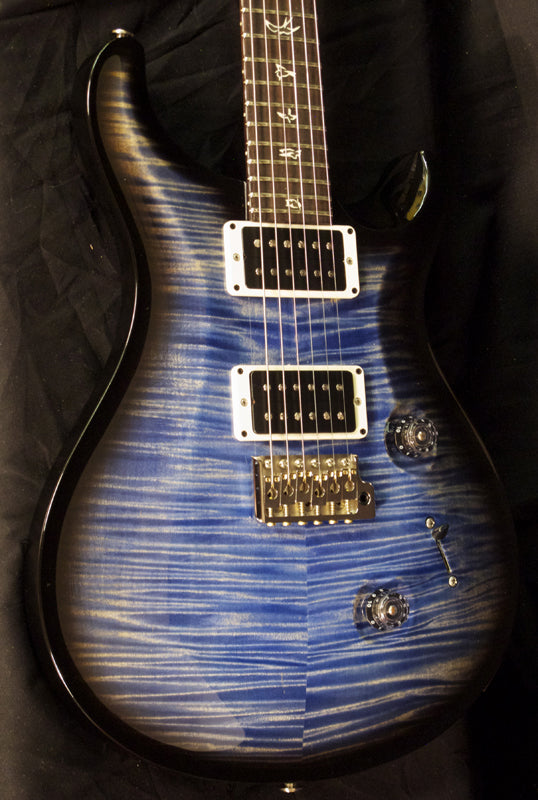 Paul Reed Smith Custom 24 Faded Blue Jean Charcoal Wrap-Brian's Guitars